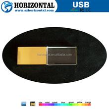 4GB 8GB gold crystal usb flash drive for wedding gift