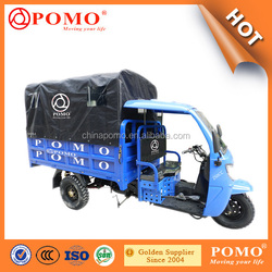 South America Strong Power Semi-Closed Water Proof Middle Engine 250CC Cargo Adult Tricycle With Passenger Seat