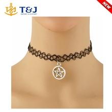 Latest Design Handmade Hot Selling Vintage Stretch Elastic Choker Necklace