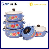 2014 yiwu promation kitchenware wholesale&enamel cookware with glass lid wholesale