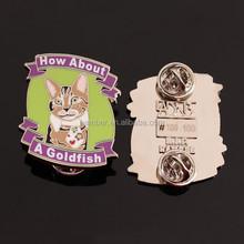 Animal metal lapel pin