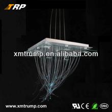 Newest Optical fiber technology design square clear glass pendant light