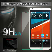Manufacture 100% transparency shockproof mobile screen protector tempered glass for HTC m8