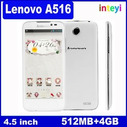 Original Lenovo A516 Android 4.2 3G Dual Core Phone 4.5 Inch IPS Screen 4GB WCDMA 1.3GHz 5.0 MP Camera Dual SIM
