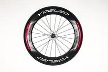 Carretera bicicleta C88-23 rojo rodamientos de cerámica tire Hubs + Sapim radios ruedas del remachador del carbón