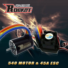 Rc car ESC 45A and motor IO 5.4A combo RC toy - 1/10th Scale 4wd Brushless Moto rPowered off-Road Buggy Booster-Pro