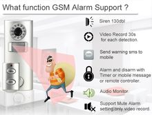 home safety security GSM alarm system set with alarm