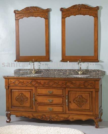 Wood bathroom cabinet reproduction antique furniture for Reproduction oriental furniture