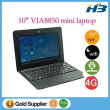 Free shipping Mini Laptop Netbook 10inch via8850 EPC Software available android 4.0 UMPC 512M 4GB