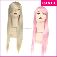 Wholesale Harajuku Anime Cosplay Wigs Young Long Straight Synthetic Hair Wig Bangs Blonde Costume Party Wigs For Women