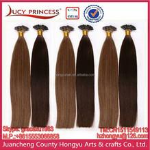 PRE BONDED TIP HAIR KERATIN I TIPS BRAZILIAN HUMAN HAIR EXTENSIONS HUMAN HAIR EXPORTER WHOLE SALE SUPPLIER