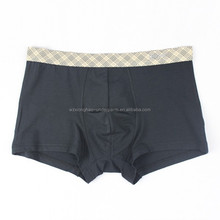 Factory provided solid color bamboo fiber and spandex sheer nylon mens underwear