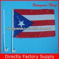 bandera de la ventana de coche de la bandera nacional de fuente de la fábrica de la bandera Puerto Rico