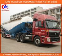 high quality tri axles 55cbm dry bulk powder cement tank semi trailer for sale