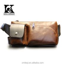 SK-4012 men shoulder strap leather bag with phone and cigarette case