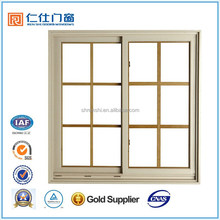 Renshi Brand SGS certificated energy saving aluminum sliding cheap window with grids