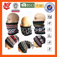 Different Designs 100% Polyester with Fleece Multifunctional Neck Warmer/Cap/Mask