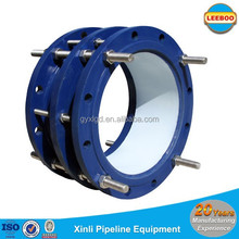 Anti-corrosion coated flanged dismantling pipe joints for valves chamber