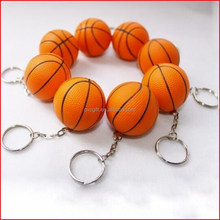 PU foam stress Basketball with keychain