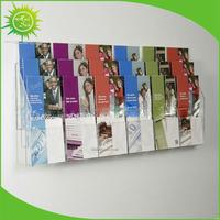 3 Tier Clear Acrylic Leaflet Plexiglas Menu Display Holders