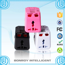 The universal travel smart adapter plug apply for patents CE FCC ROHS