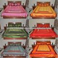 Indiana artesanal de seda colcha, bordados étnicos designer dupla cama colchas tamanho