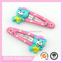 Factory direct new fashion cute bear kid's hair clips for girls wholesale