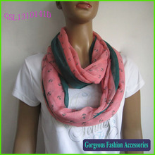 2014 Fashion polyester anchor infinity scarf