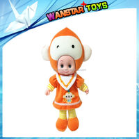 Lovely monkey Fruit Doll Educational Toy 8 Different Cartoon Talking Doll Set Music Safety Material Kids Gift,dandys
