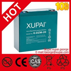 2015 Hotsell 12v 20ah 6-dzm-20 Electric Scooter Battery Good Quality Best Battery