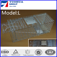 GI wire cat cage trap animal with only one step