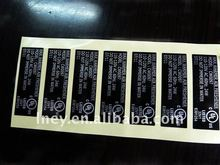 cheap UL recognized sticker