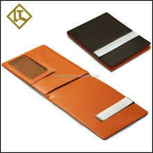 money clip wallet men fashion id holder genuine leather