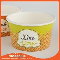 Custom Logo Printed Disposable Paper Frozen Yogurt Cups