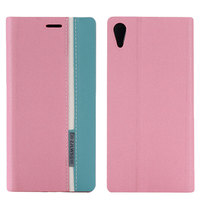 Flip Up Jean Cloth Fabric Leather Wallet Cover Case For Sony Z4