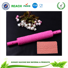 Silicone Love printed Fondant sugar Rolling Pin With Peach Embossed Handle Dough rolling pin