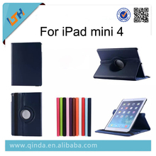 2015 New Arriving 360 Degree Rotating Standing Leather Case Cover For iPad mini 4 leather Case