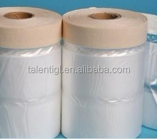 Pretaped Plastic Wrap For Car Painting Covering Masking Tapes Masking Film