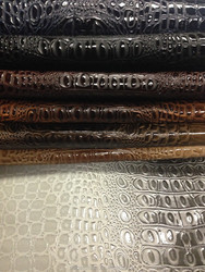 Shining PVC Leather Crocodile pattern for Bag and Furniture ,crocodile leather,crocodile skin