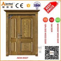 Unequal double leaf flush solid wooden door indian main door designs