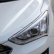 Car Decoration Parts ABS Chrome headlamp/front light Cover trimming for Hyundai IX45/Santafe 2013 Exterior Accessories