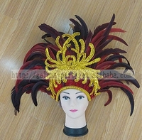 Gorgeous Feather Headgear Carnival Party Feather Headdress