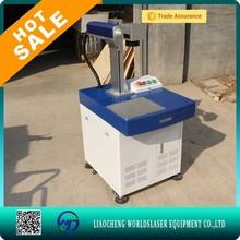 air cooling mini Desktop 10W fiber laser marking machine price stainless steel plate laser marking/engraving machine