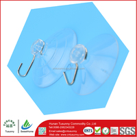china best selling transparent plastic suction hooks and cups for bathroom