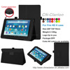 New Design Ultra-Thin PU Leather Case Leather Cover For Kindle Fire HD 8 case, Black