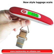 Factory New style portable luggage digital scale weight for airport, fruit, vegetables, heavy bag with green backlight
