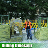 2015 popular coin oprated amusement park dinosaur game