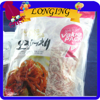 Korean style instant pungent grilled dried shredded squid seafood snack