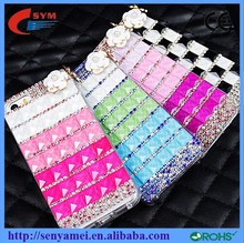 For iPhone 6 Case Promotional Luxury Bling Cover Diamond+Rhinestone+Pearl