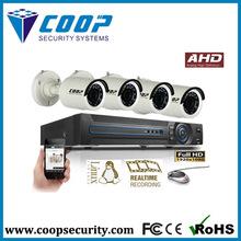 Nuovo prodotto sistema di telecamere cctv dvr ibrido 1080p reale- tempo 4 pezzi AHD AHD kit macchina fotografica del cctv